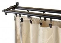 adjustable double curtain rod brackets