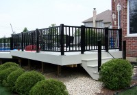 Aluminum Railings For Decks On Log House
