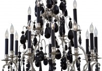 Antique Black Crystal Chandelier