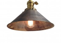 Antique Brass Chandelier With Shades
