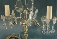 antique crystal chandelier table lamp