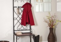 Antique Entryway Bench Coat Rack