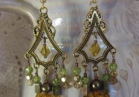 Antique Gold Chandelier Earrings
