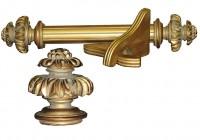 Antique Gold Curtain Rod