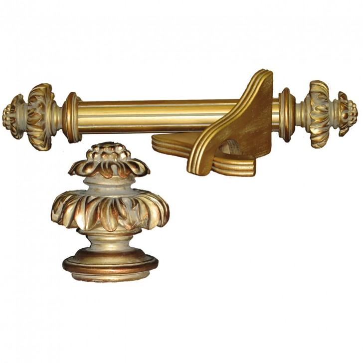 Permalink to Antique Gold Curtain Rod