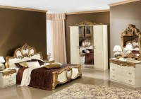 Antique Gold Mirrored Bedroom Furniture