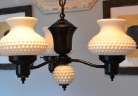 Antique Milk Glass Chandelier