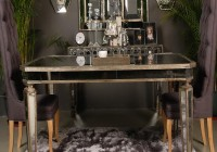 Antique Mirrored Dining Table