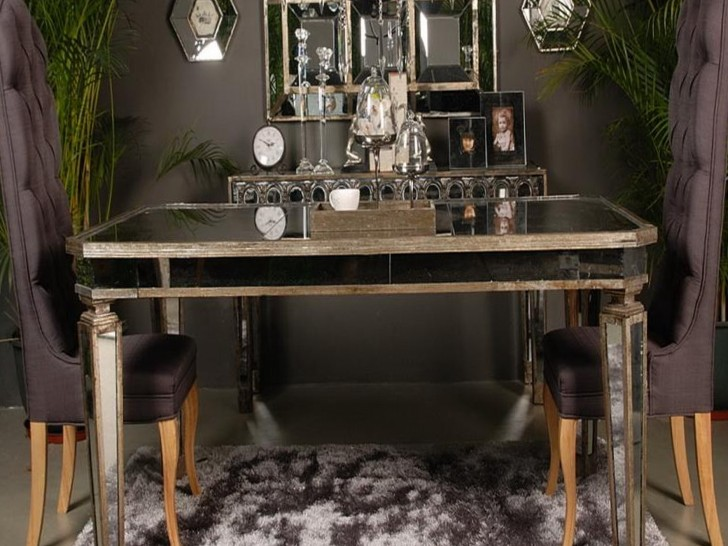 Permalink to Antique Mirrored Dining Table