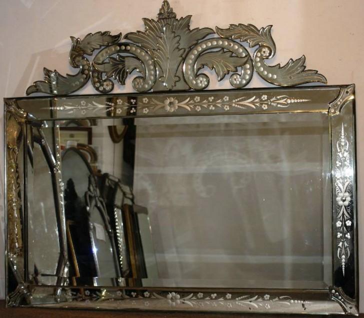 Permalink to Antique Venetian Glass Mirror
