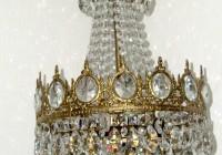 Antique Victorian Crystal Chandelier