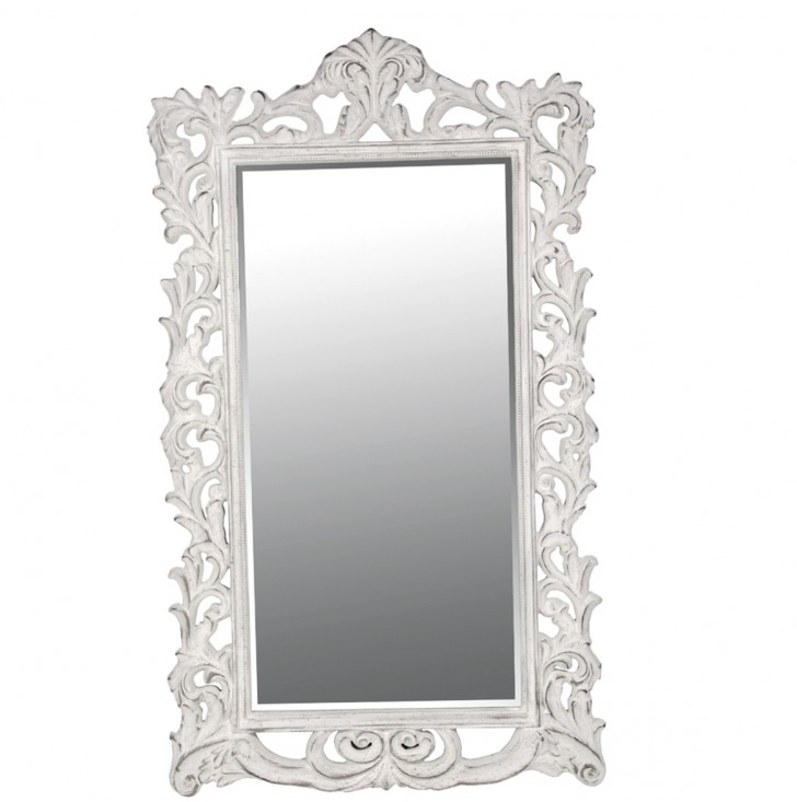 Permalink to Antique White Full Length Mirror