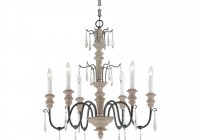 Antique White Wood Chandelier