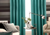 Aqua Blue And Brown Curtains