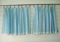 Aqua Blue Curtain Panels