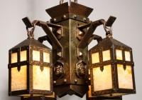 Arts And Crafts Chandelier Antique