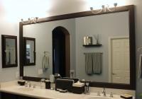 bathroom mirror frames do it yourself
