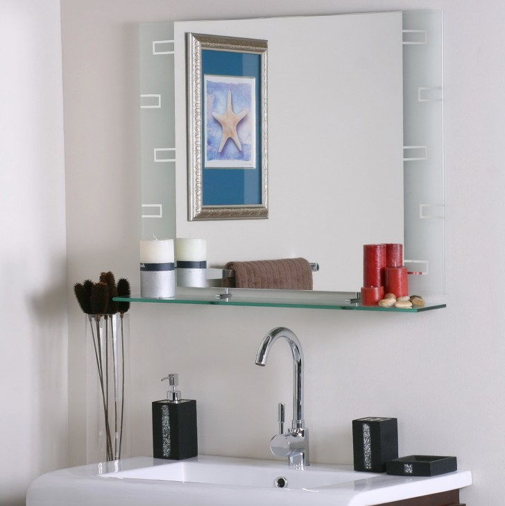 Permalink to Bathroom Mirror With Shelf And Light