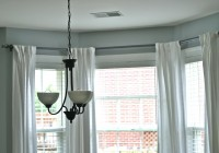 Bay Window Curtain Pole Ceiling Mounted