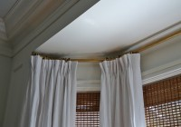 bay window curtain track