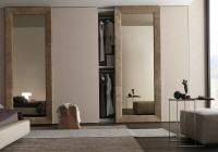 bedroom closet doors with mirrors