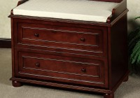 Bedroom Storage Bench Cherry