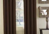 Bedroom Window Curtains Brown