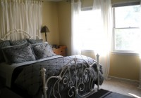 Beds With Curtains Behind