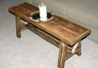 Bench Coffee Table Narrow