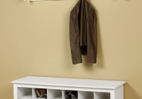 bench with shoe storage and coat rack