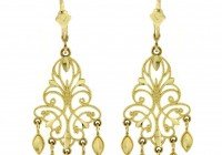 Big Gold Chandelier Earrings