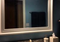 Big White Framed Mirror