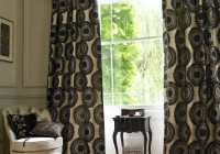 Black And Cream Curtain Panels