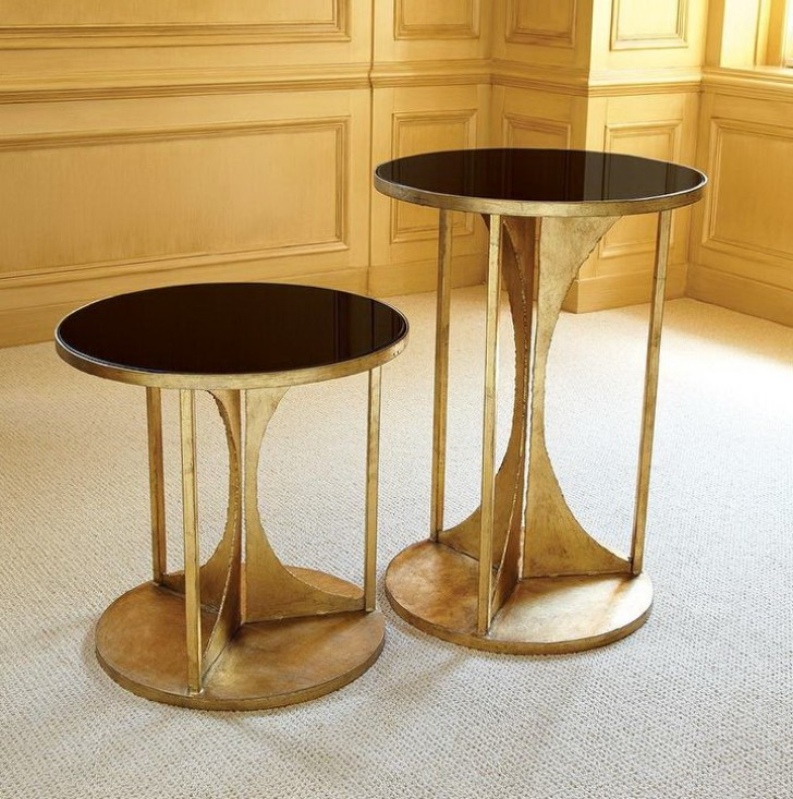 Permalink to Black And Gold Side Table