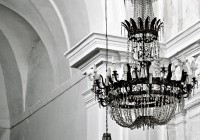 Black And White Chandelier Curtains