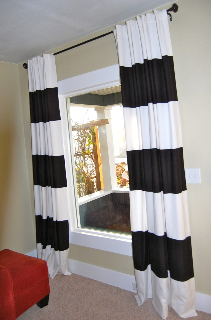 Permalink to Black And White Curtains Decor