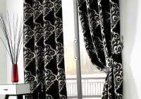 black and white velvet curtains