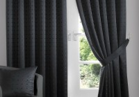 Black Blackout Curtains Pencil Pleat