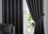 Black Blackout Curtains Pencil Pleat