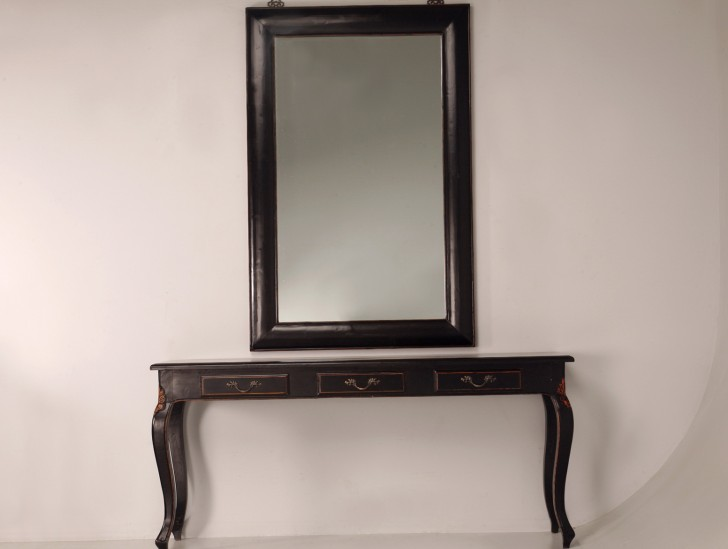 Permalink to Black Console Table With Mirror