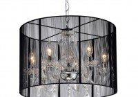 black drum crystal chandelier