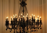 Black Glass Chandelier Lighting