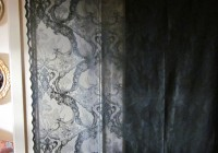 black lace curtain panels