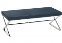 Black Leather Bench Seat
