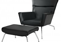 Black Leather Chair And Ottoman