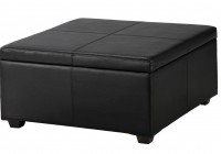 Black Leather Ottoman Bed
