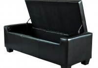 Black Leather Storage Bench