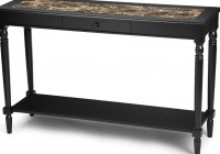 Black Marble Console Table