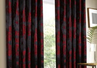 Black Red And Grey Curtains