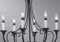 Black Rod Iron Chandelier